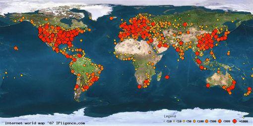 Mapa Mundial de�Internet